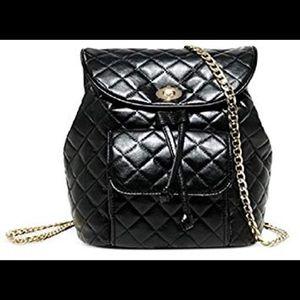 Ariana grande black rose gold backpack